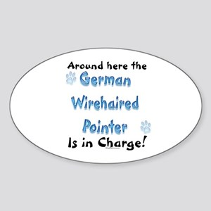 Wirehaired Charge Oval Sticker