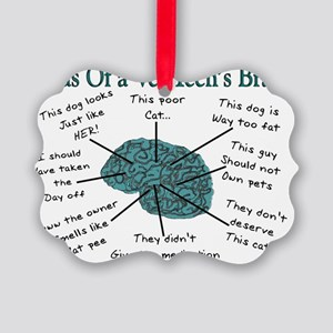 atlas of a vet techs brain Picture Ornament