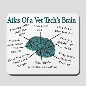 atlas of a vet techs brain Mousepad