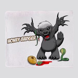 honey badger (2) Throw Blanket