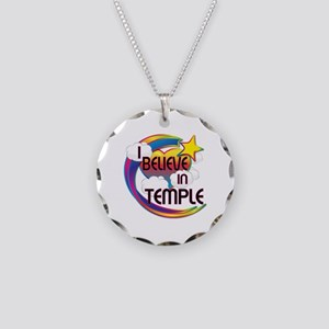I Believe In Temple Cute Believer Design Necklace