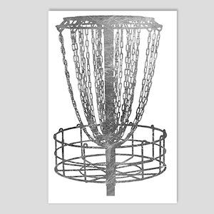 Metal Basket - Disc Golf  Postcards (Package of 8)