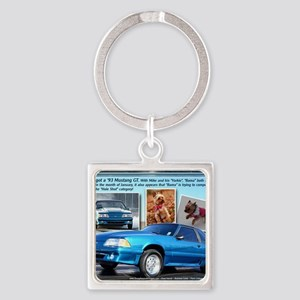 JAN-3Mutts-cal-2012- Square Keychain