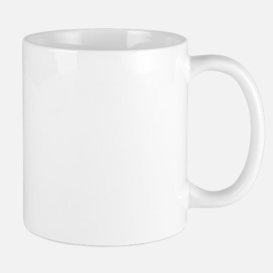 Dont Even Ask About Schrodingers Dog BW Mug