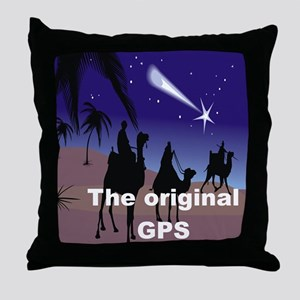 THE ORIGINAL GPS Throw Pillow