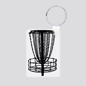 black basket NO TEXT Aluminum Photo Keychain