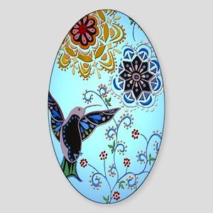 hummingbird02 Sticker (Oval)
