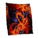 Dance of the Dragons Burlap Throw Pillow