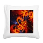 Dance of the Dragons Square Canvas Pillow