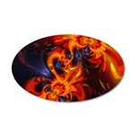 Dance of the Dragons 20x12 Oval Wall Decal