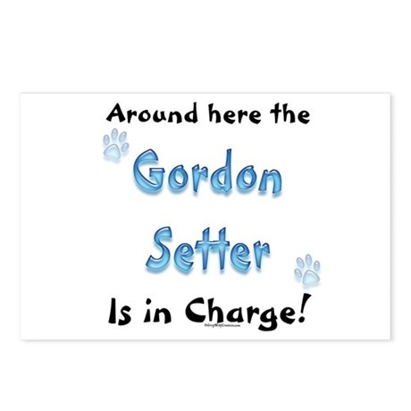 Gordon Setter Charge Postcards (Package of 8)