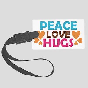 peacelovehugs Large Luggage Tag