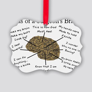 Atlas of a Surgeons Brain Picture Ornament