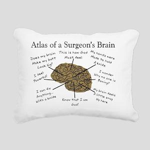 Atlas of a Surgeons Brai Rectangular Canvas Pillow