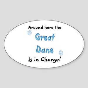 Great Dane Charge Oval Sticker