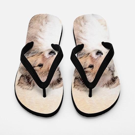 Shetland Sheepdog Puppy Flip Flops