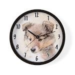 Shetland Sheepdog Puppy Wall Clock