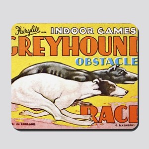 greyhound obstacle Mousepad