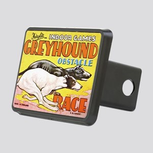greyhound obstacle Rectangular Hitch Cover