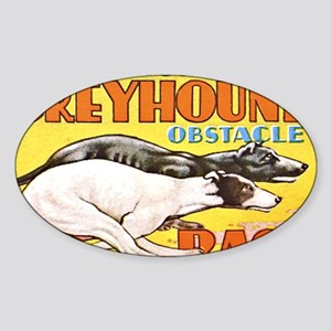 greyhound obstacle Sticker (Oval)