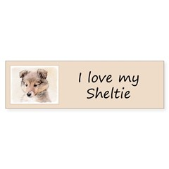 Shetland Sheepdog Puppy Sticker (Bumper 10 pk)