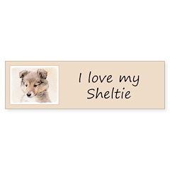 Shetland Sheepdog Puppy Sticker (Bumper 50 pk)