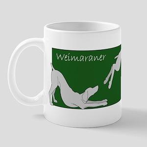 3 Weims on Green Ceramic Mug
