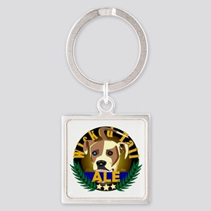 Wicked Tail Ale Square Keychain