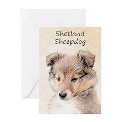 Shetland Sheepdog Puppy Greeting Card