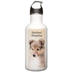 Shetland Sheepdog Pupp Water Bottle