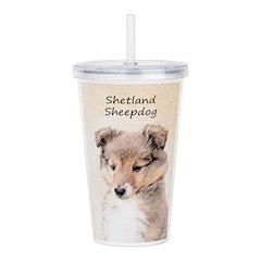 Shetland Sheepdog Pupp Acrylic Double-wall Tumbler