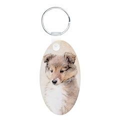 Shetland Sheepdog Puppy Keychains