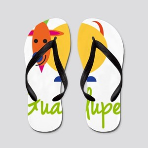 Guadalupe-the-goat Flip Flops