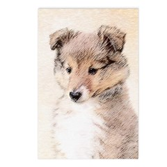 Shetland Sheepdog Puppy Postcards (Package of 8)