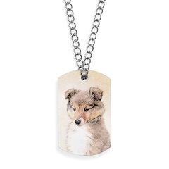 Shetland Sheepdog Puppy Dog Tags