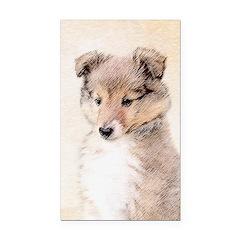 Shetland Sheepdog Puppy Rectangle Car Magnet