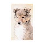 Shetland Sheepdog Puppy Sticker (Rectangle 50 pk)