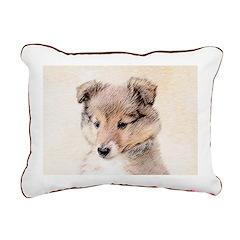 Shetland Sheepdog Puppy Rectangular Canvas Pillow