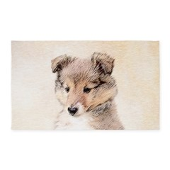 Shetland Sheepdog Puppy Area Rug