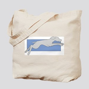 Leaping Weim 2 Sided Tote Bag