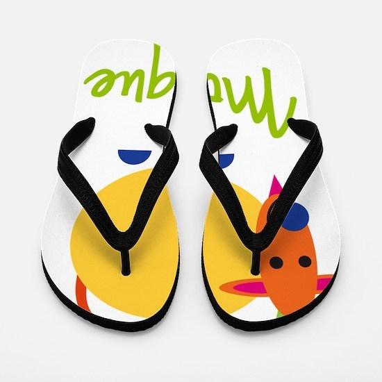 Monique-the-goat Flip Flops