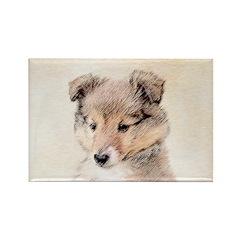 Shetland Sheepdog Puppy Rectangle Magnet