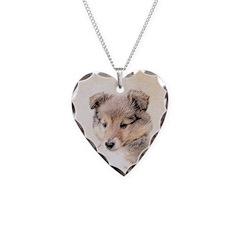 Shetland Sheepdog Puppy Necklace