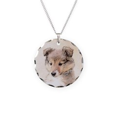 Shetland Sheepdog Puppy Necklace