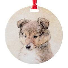 Shetland Sheepdog Puppy Ornament