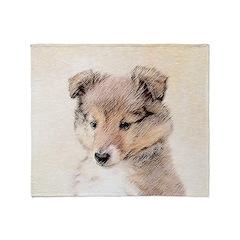 Shetland Sheepdog Puppy Throw Blanket