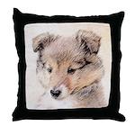 Shetland Sheepdog Puppy Throw Pillow
