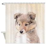 Shetland Sheepdog Puppy Shower Curtain