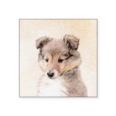 Shetland Sheepdog Puppy Square Sticker 3