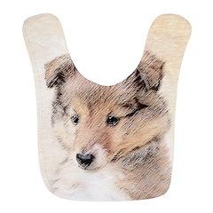 Shetland Sheepdog Puppy Polyester Baby Bib